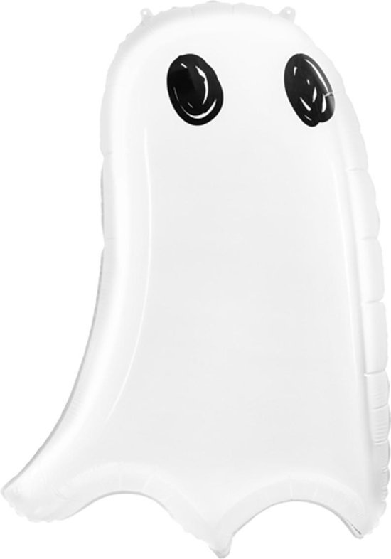 PARTYDECO - Witte aluminium spook ballon - Decoratie > Ballonnen