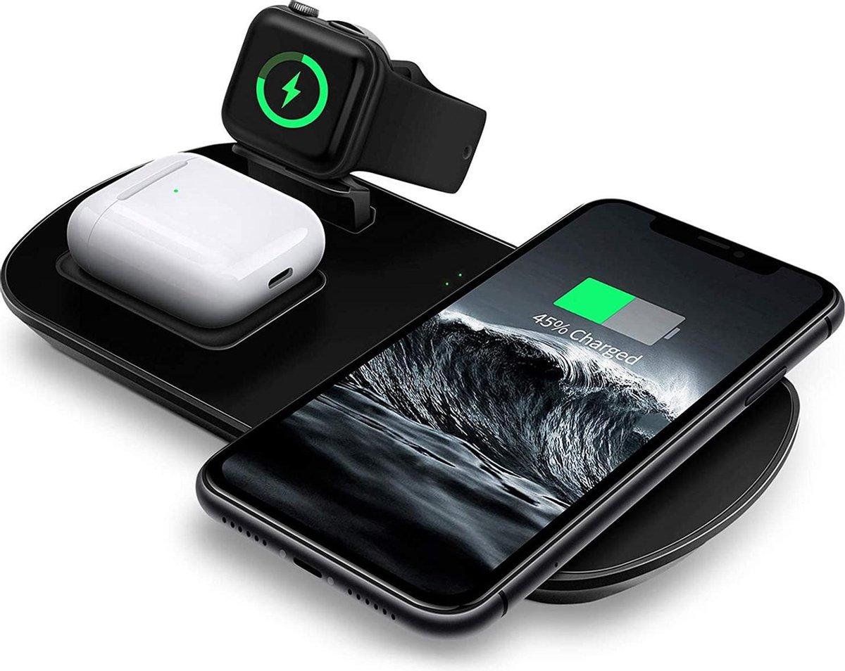 MixMart Laadstation | 3 in 1 draadloze oplader | Voor Iphone X XS 11 12 | Voor samsung Galaxy S20 S10 Note | Universeel draadloos opladen | Buds Draadloos opladen | Airpods | Iwatch