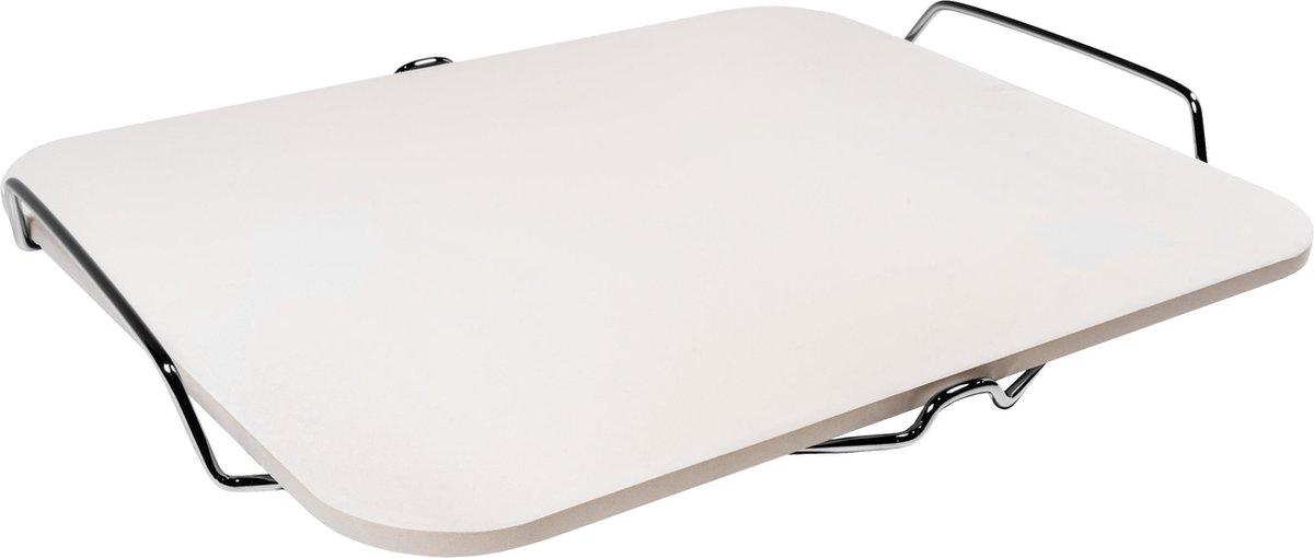 Krumble Pizzasteen BBQ / Pizzasteen oven / Pizzaplaat / Pizzasteen rond / Pizza baksteen / Pizzaplaat - Rechthoek - 30 x 38 cm