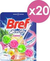 Bref - Wc blok - Blue Active - Exotic Hawai - 20 stuks - Voordeelverpakking - toiletblokjes