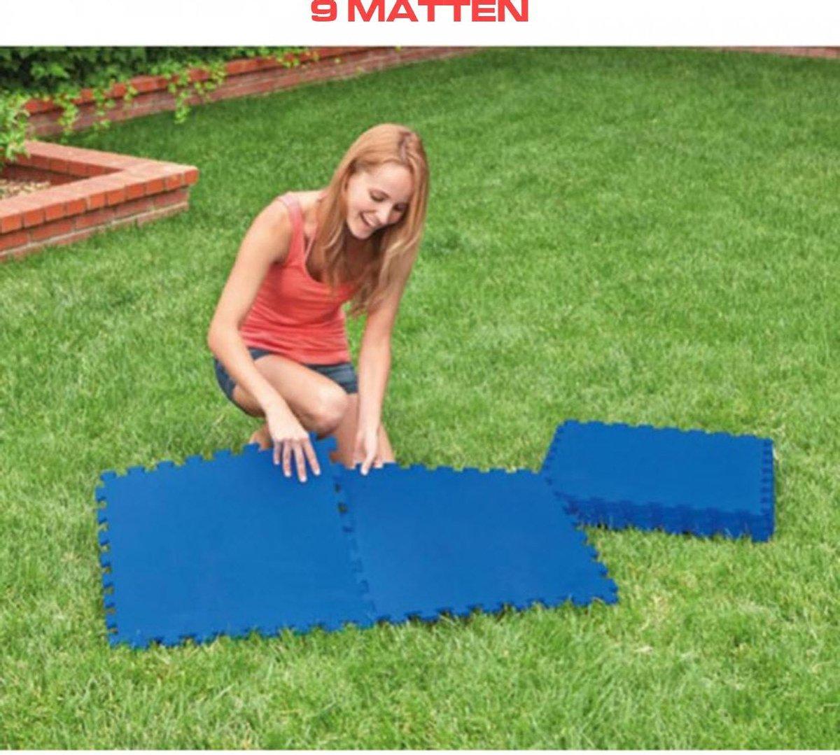 Zwembad |Yogamat 9 st. | Puzzelmat | Fitness tegels | fit sport