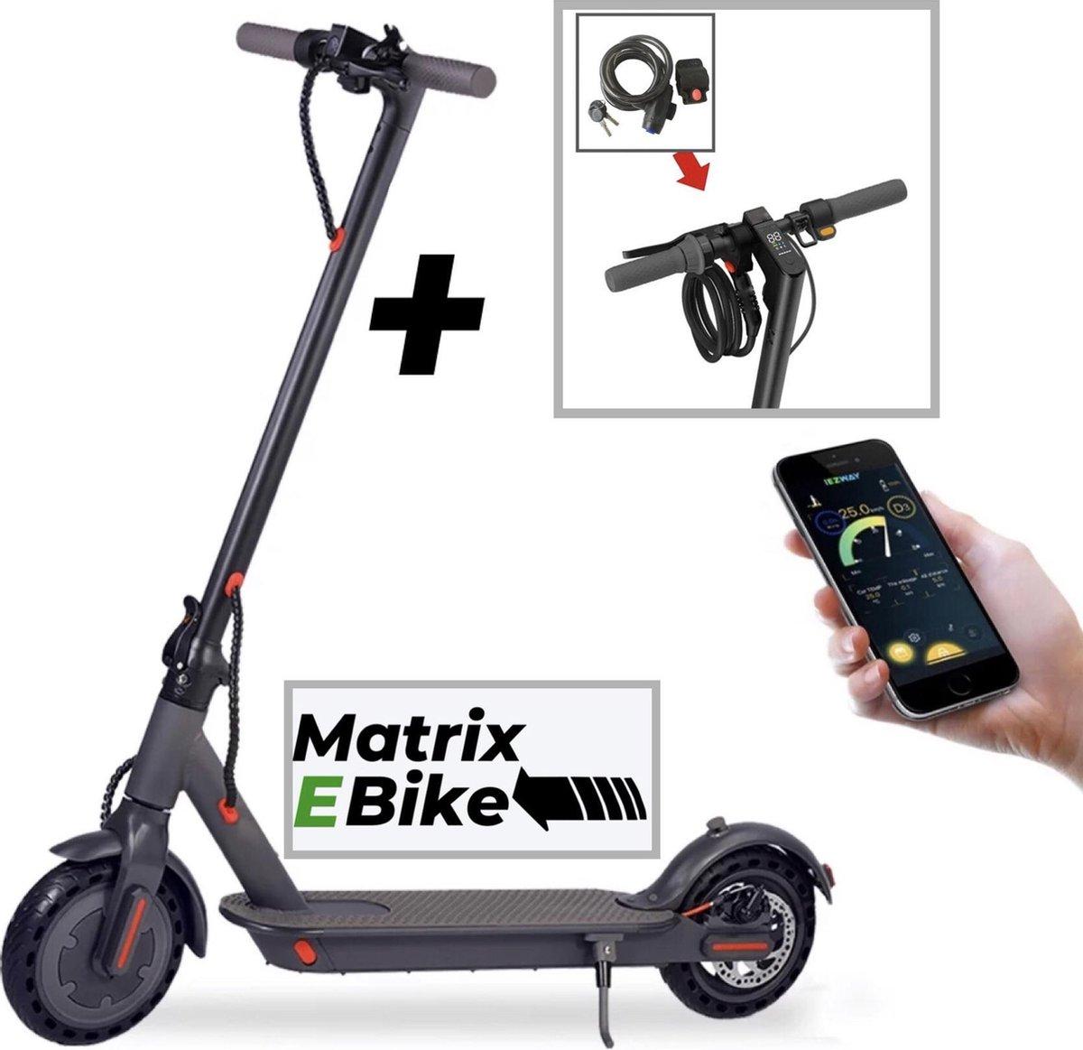 D8 Pro S - Matrix E Bike - Elektrische Step - E Step Opvouwbaar - 500W Motor - 8.5 Inch Anti Lekbanden - IOS Android - 7.8Ah Batterij - Incl. Kabelslot