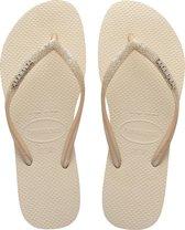 Havaianas Slim Glitter II Dames Slippers - Beige - Maat 39/40