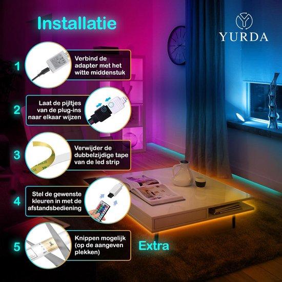 Yurda 10 meter Led Strip met Afstandsbediening - RGB - Led strip - Led light strip - 5050 RGB Led
