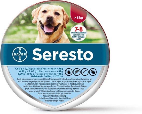 Seresto - Vlooien en tekenband - Grote hond - 8+ kg