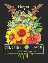 Flower Coloring Book For Kids Age 4-8: 100 Page Of Beautiful Flower Coloring And Activity Page For Kids