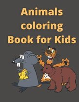 Animals coloring book for kids: happy Animals coloring book for kids