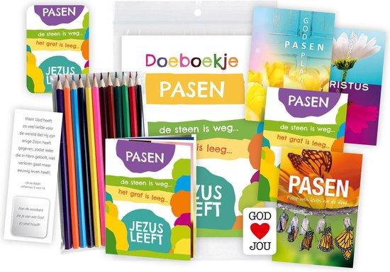 Christelijk Paaspakket voor kinderen - lezen, kleuren en knutselen met Pasen - basisschoolleeftijd