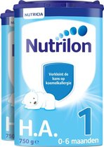 Nutrilon HA 1 Flesvoeding - 2 x 750 gram