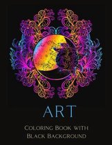 Art Coloring Book with Black Background