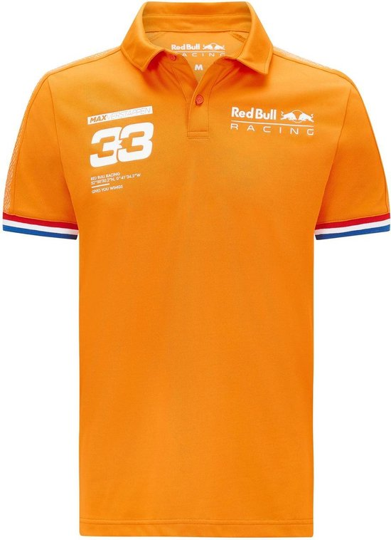 Red Bull Racing Max Verstappen Polo M orange