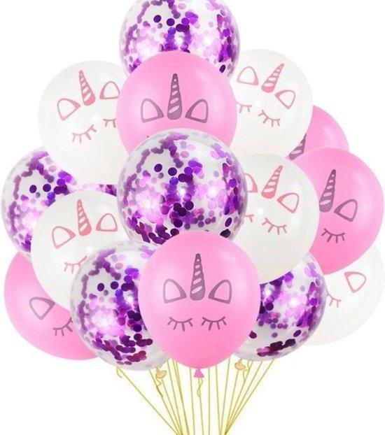 Viesta - Unicorn ballonnen eenhoorn ballonnen 15 stuks - paars en roze