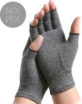 Nixnix Reuma Handschoenen - Artrose - artritis - Maat L - Thuiswerk handschoenen - Grijs - Compressie Handschoenen - Carpaal Tunnel