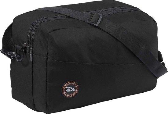 CabinMax Rio Reistas - Handbagage 20L – Weekendtas – Compact Schoudertas - 40x25x20 cm – Lichtgewicht – Zwart