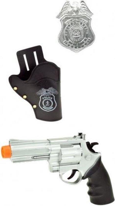 Toi-toys Politie Pistool Met Holster En Badge 20,5 Cm