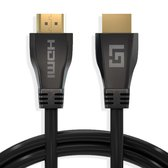 Afbeelding van LifeGoods HDMI Ultra High Speed 2.1 Kabel - 48 GBPS - 3D - 8k@60Hz - 4k@120Hz - Full HD 4.320 Pixels - Ethernet - Male to Male Cable - Voor TV/Beeldscherm/Tablet/DVD/Laptop/Macbook/PC/Xbox/Playstation/PS - Dun - Zwart - 3 Meter