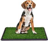Maoo Indoor Hondentoilet – Geurbestendig - Hondvriendelijk Kunstgras - 63 x 50 cm – Zwart – Trainingpads