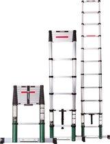 VONROC Professionele Telescopische ladder – 3.2m – met softclose & dwarsbalk – Veilig & solide