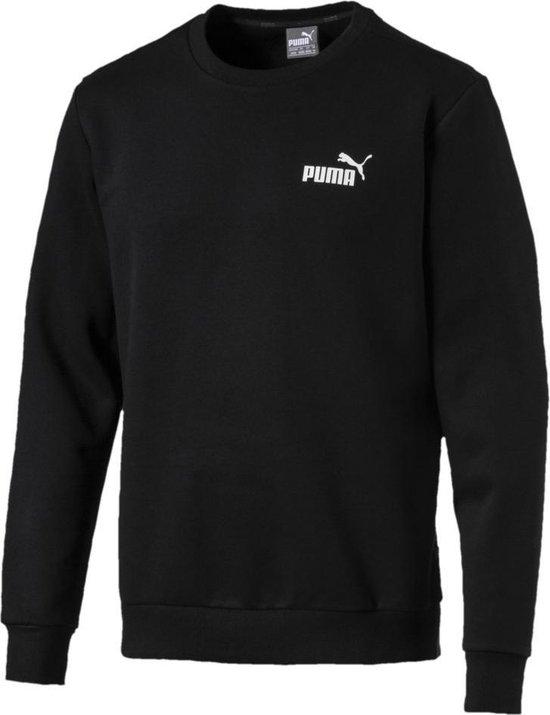 PUMA Ess Logo Crew Sweat Fl Trui Heren - PUMA Black - Maat XL
