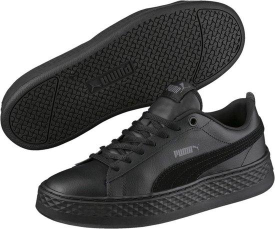 PUMA Smash Platform L Sneakers Dames - Puma Black-Puma Black - Maat 37