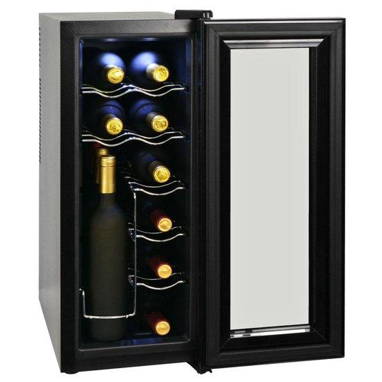 - Wijnkoeler - 12 flessen - Zwart