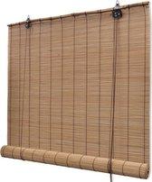 Rolgordijn Bamboe - 140x160 cm - Bruin - Lichtdoorlatend