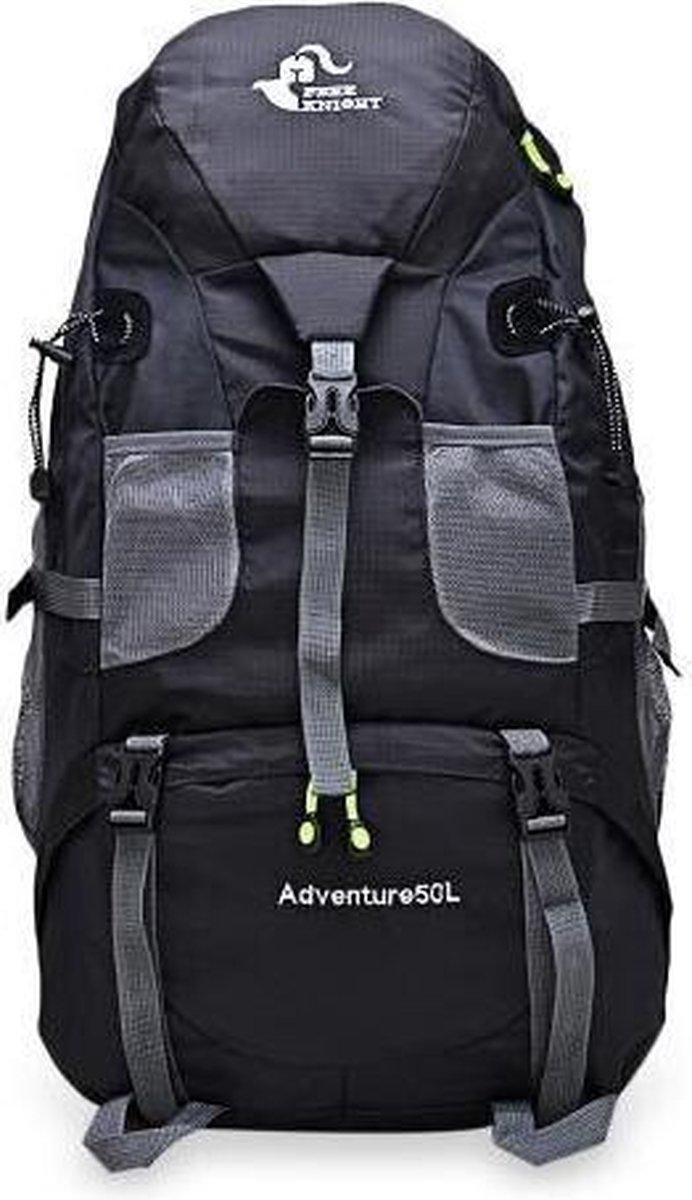 Backpack - Free Knight Adventure - Zwart - Rugzak - 50 Liter