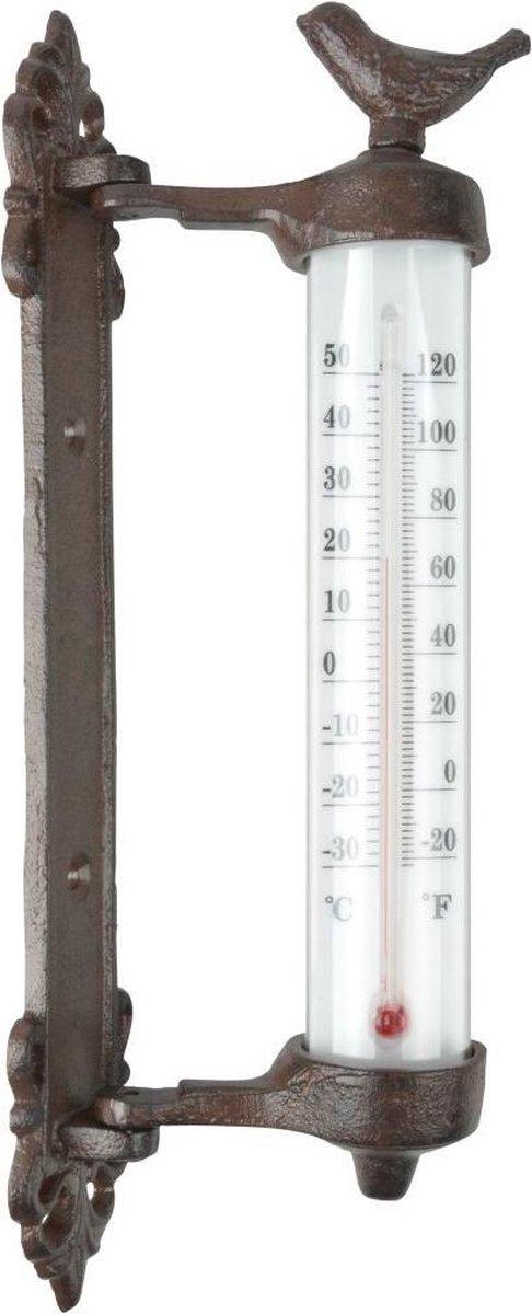 Esschert Design Muurthermometer gietijzer bruin BR20