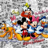 Dutch Wallcoverings Fotobehang Mickey On Dark Comics,  4-d