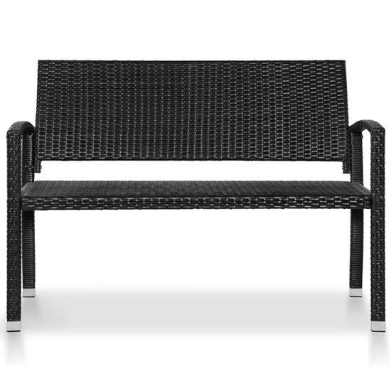 vidaXL Tuinbank 122 cm poly rattan zwart