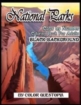 National Parks BLACK BACKGROUND Color By Number Coloring Book For Adults