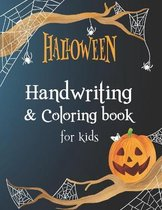 Halloween Handwriting and coloring book for kids