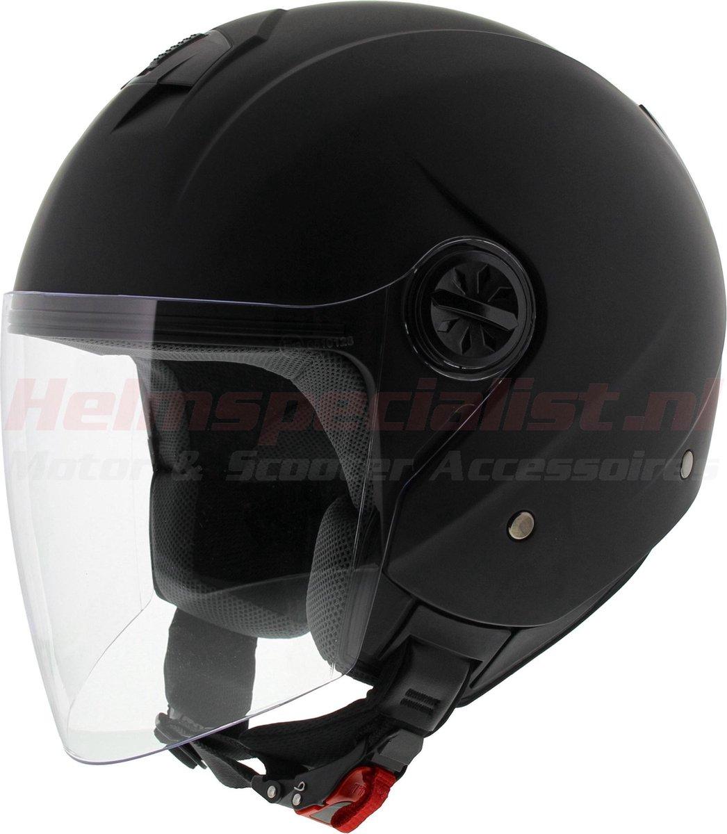 Vito JET Palermo Mat Zwart Jethelm - Motorhelm - Maat XL