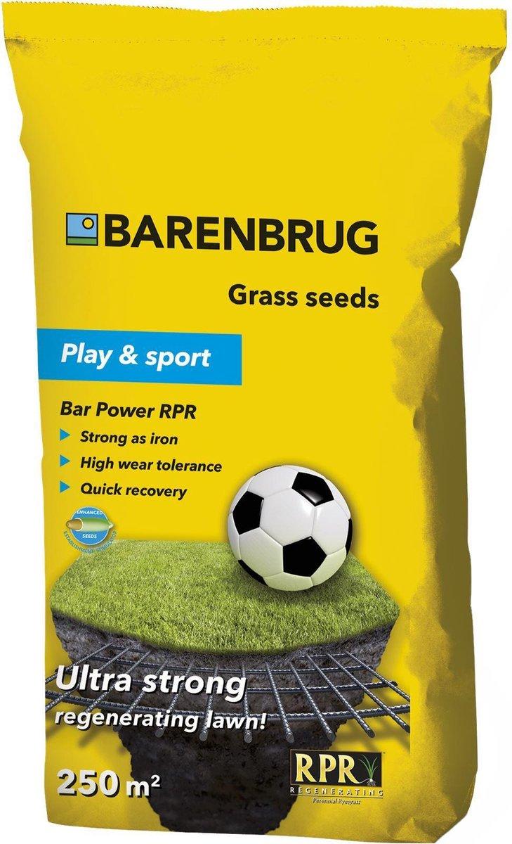 Barenbrug graszaad -Speel en Sport- Bar Power RPR - extra stevig & zelfherstellend gazon - 5kg