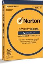 Norton 360 Deluxe - Beveiligingssoftware – 5 Apparaten - 1 Jaar - Windows/MAC/Android/iOS