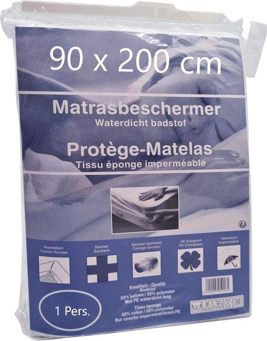 Matrasbeschermer Waterdicht 90x200cm - Wit