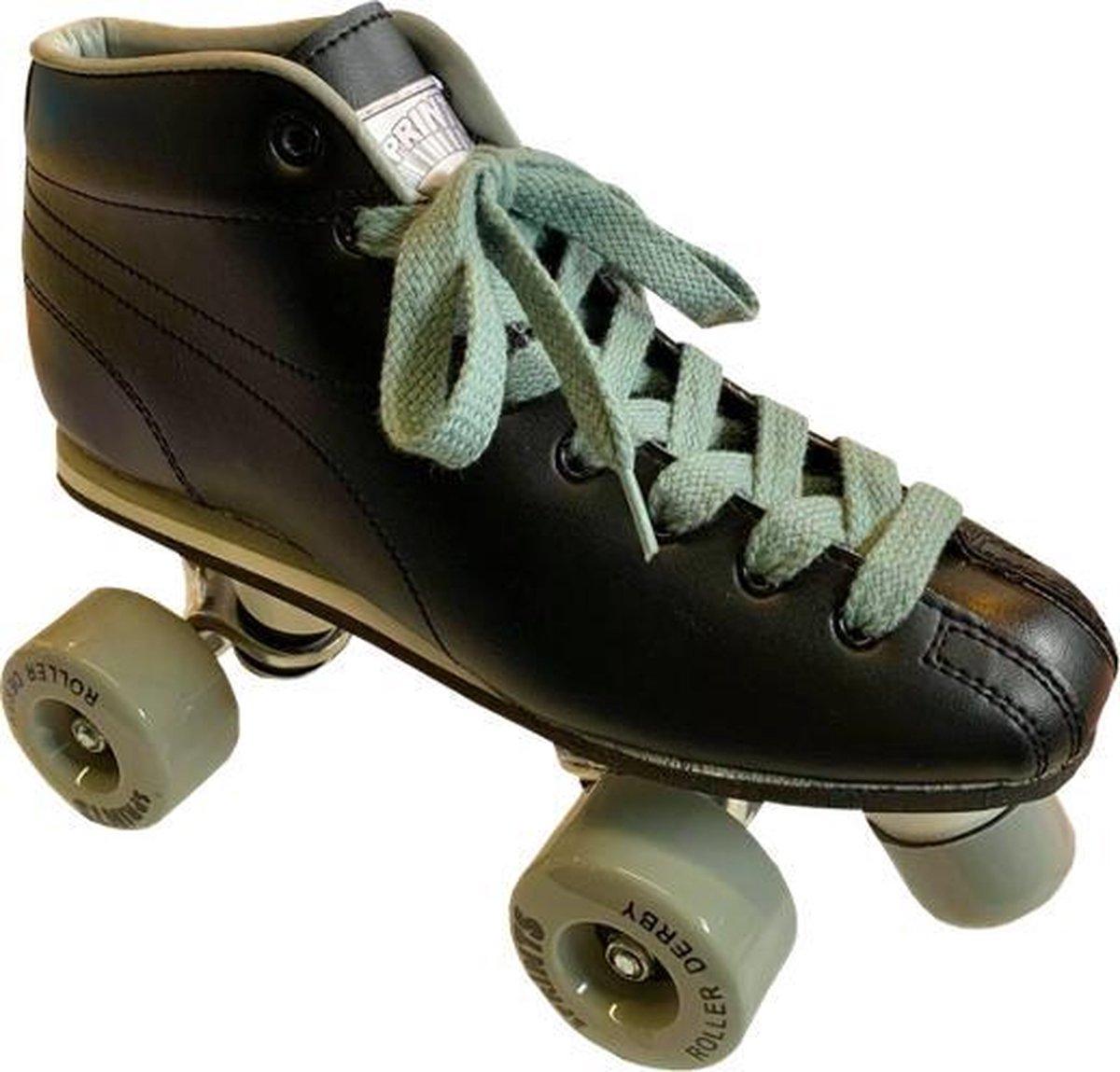 ROLLER DERBY Sprints - Rolschaatsen - Retro - Kinderen - Zwart - Maat 37