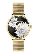 Ted Baker Phylipa Peonia - BKPPHF012 - Dameshorloge - Goud - Mesh horlogeband - 37 MM