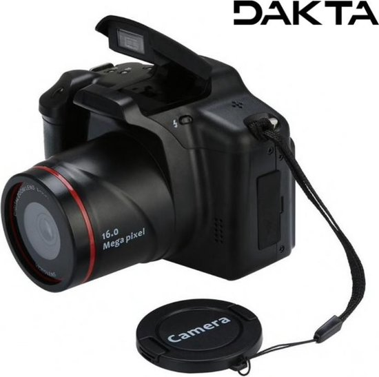 Dakta® Digitale Camera | Vlog Video Camera | Compact Fototoestel | 16x Zoom | met LCD Scherm | 1080P | 16 MP