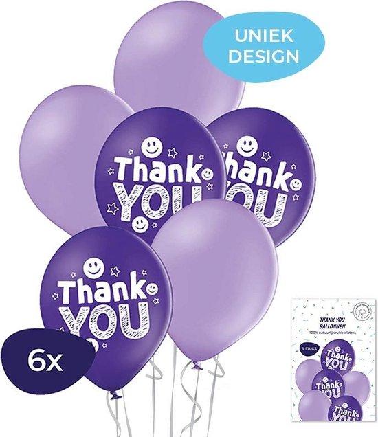 Dankjewel - Thank you ballonnen - Helium ballonnen - Juf cadeau - Afscheidscadeau - Afscheidscadeau collega - Bedankt cadeautje – Bedankt ballonnen - 6 stuks