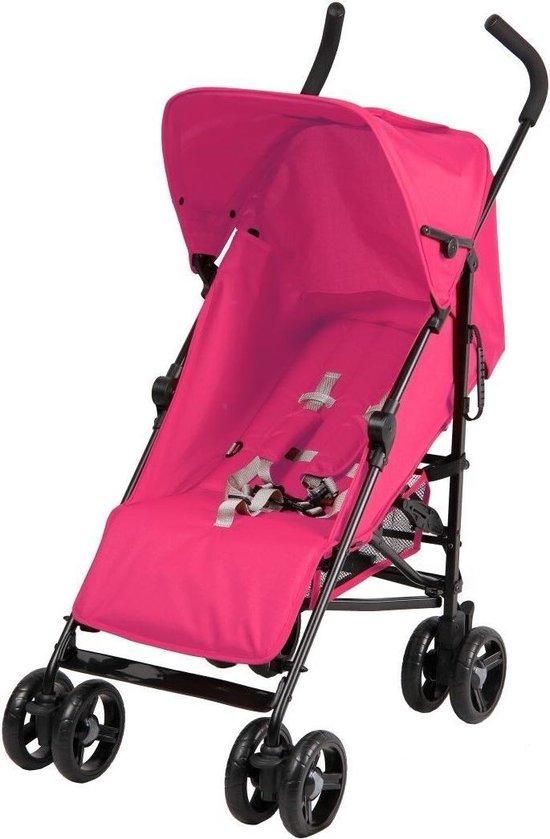 Product: Cabino Buggy - Plooibuggy - Lichtgewicht - 5 standen - Comfortabele Rugleuning - Roze, van het merk cabino