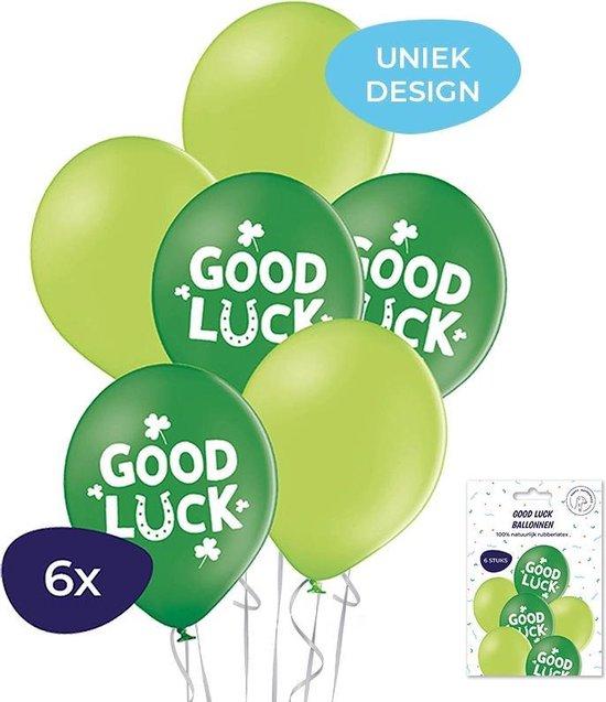 Good luck ballonnen - Helium ballonnen - Geluk - Geluksbrenger - Afscheidscadeau - Geslaagd versiering - 6 stuks