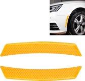 2 stks auto-styling wiel wenkbrauw decoratieve sticker decoratieve strip (geel)