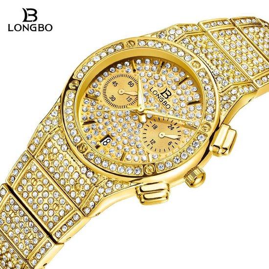 Longbo – Dames Horloge – Goud-kleurig – Ø 33.5mm