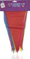 3BMT Vlaggenlijn stof - 5 meter - 15 vlaggetjes - bonte kleuren