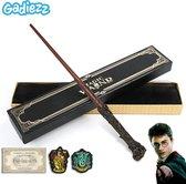 Gadiezz® Toverstaf Geschikt Voor Harry Potter Kostuum - Toverstok - Treinkaartje - 2 Patches