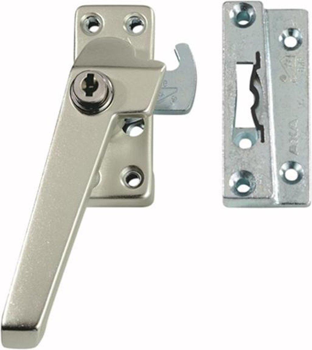 AXA 3319 Veiligheids raamsluiting - 3319-61-92/GE - draairichting 4 - Aluminium F2