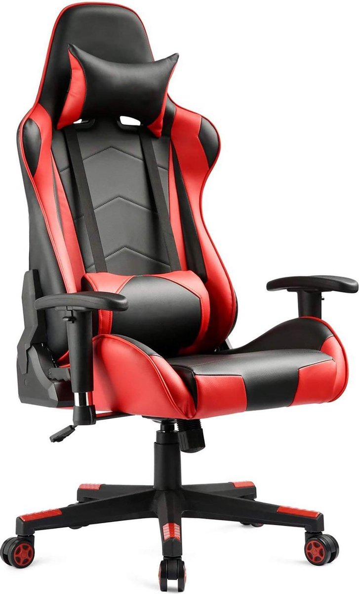 IN-HOME - SWAN - Gamestoel -  Computerstoel Zithoogteverstelling Bureaustoel - Gaming Stoel - Zwart/