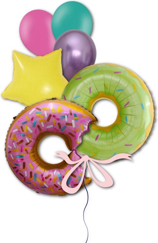 Folie Ballon Donut Candybar voor Verjaardag, Themafeest, Kinderfeest, Sweet 16, Bruiloft   Geschikt voor Helium