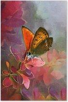 Graphic Message - Tuin Schilderij op Outdoor Canvas - Vlinder - Buiten